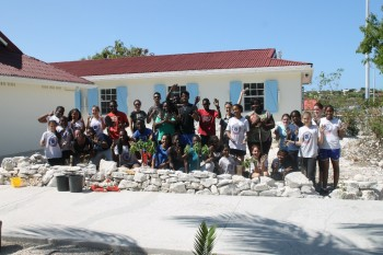 British West Indies Collegiate students plant trees on Arbour Day 2015